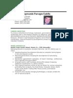 Raymundo Farrugia Resume 2012