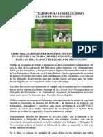 MANUAL DE TRABAJO PARA LOS DELEGADOS Y DELEGADAS DE PREVENCIÓN