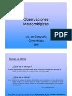 Observacion Meteorologica