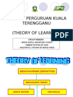 Theory of Learning (Watson, Ivan Pavlov, Thorn Dike)