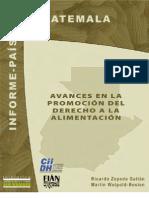 Avances Derecho a la Alimentación Guatemala 2007