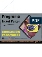 Cartel Ticket Paicor - Ravagnini - Subirachs