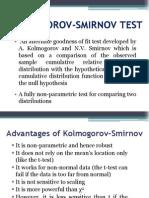 Kolmogorov Smirnov