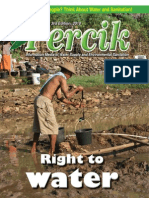 Right to Water. PERCIK. Indonesia Water and Sanitation Magazine 3rd Edition 2010