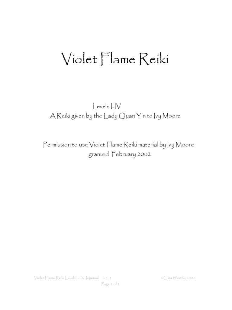 Violet Flame Reiki Manual Mantra Bodhisattva