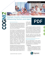 Multiple Country Implementation -- Influencing Factors and Approaches