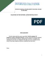 Mba Hr Project Job Description Job Roles and Responsiblities of Employees