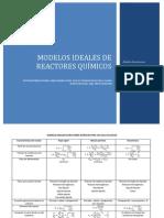 MODELOS IDEALES DE REACTORES QUÍMICOS