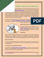 The Ado.net Entity Framework Architecture