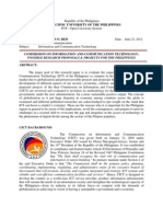Proposed Information and Communication Technology (ICT) Projects and Programs for the Philippines