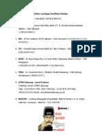 Daftar Lembaga Sertifikasi Welder