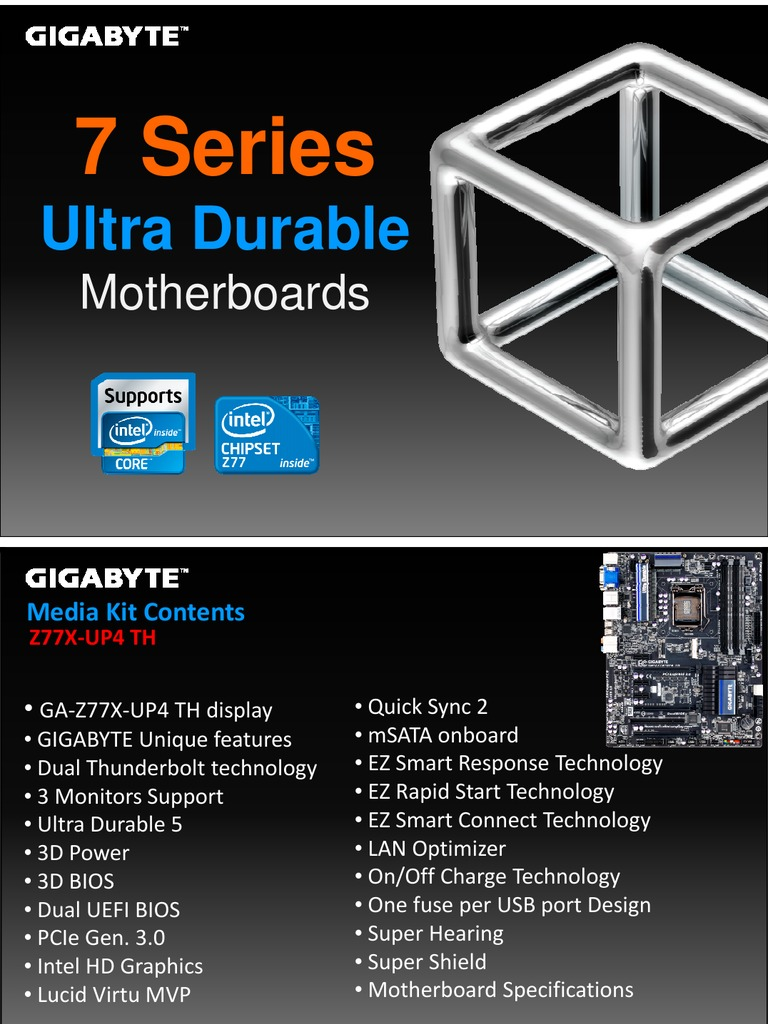 Gigabyte GA-Z77X-UP4 TH Motherboard | Solid State Drive | Usb