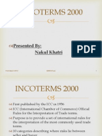 Incoterms. by Nakul