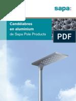 Sapa dépliant candelabres en aluminium