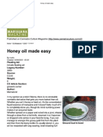 Cannabis Oil - Honey Oil Made Easy