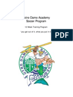 12 Training Sessions NotreDame Soccer