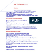 resume of dr manmohan singh prime minister of india politics