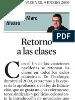 Francesc-Marc Álvaro. Retorno a Las Clases