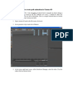 Cinema 4D-How to Create Path Animation in Cinema 4D