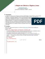 Apostila - Aplicações de Maple em Cálculo e Álgebra Linear