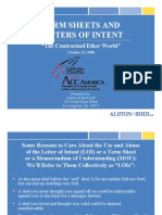 Intent Letters & Terms