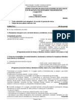 Titularizare Limba Romana 2012 Model 2