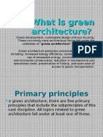 what is green architecture?