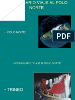 Vocabulario Viaje Al Polo Norte