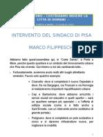 PISA AL FUTURO. Introduzione Di Marco Filippeschi, 17 Luglio 2012