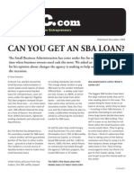 Can You Get a SBA Loan?