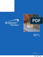 Requests for Proposals Blue Paper by promotional products retailer 4imprint