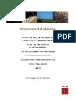 Analyse Environnementale Urbaine _résumé ADEME2003