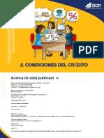 Condiciones del crédito (cart. DOS)