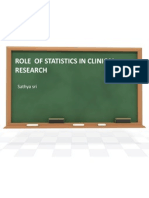 Role of Statistics in Clinical Research
