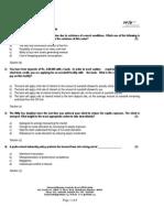 Module 1 cfp mock test