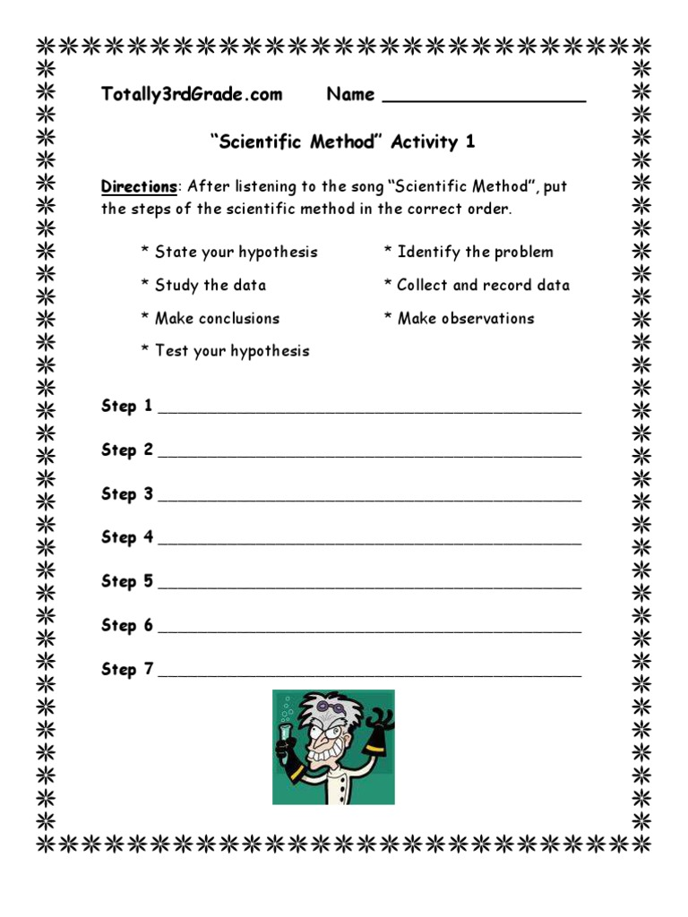 3rd Grade | Scientific Method Worksheet