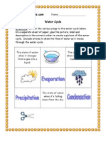 3rd Grade | Water Cycle Worksheet