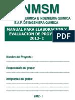 Pyiq - Manual Para Elaborar Proyecto 2012 - i