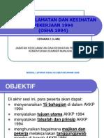 Akta Keselamatan Dan Kesihatan Pekerjaan 1994