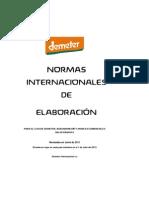 Certificación DEMETER Procesamiento