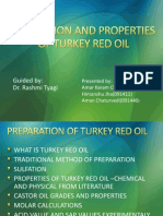 Preparation of Turkey Red Oil