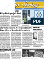 Ridge Spring Monthly - July 2012