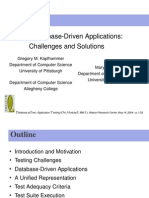 Testing Database-Driven Applications