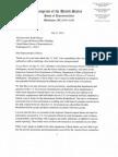 Letter to Rep. Ellison