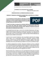 BOLETÍN DE PRENSA 021-2012