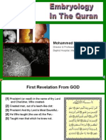 Quran and Embryology