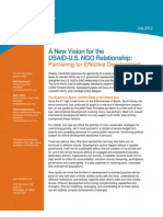 InterAction - A New Vision for the USAID-NGO Relationship July 2012