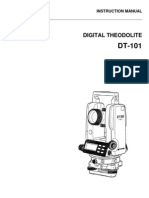 Manual Teodolito DT 100 En