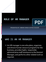 Role of HR Managers