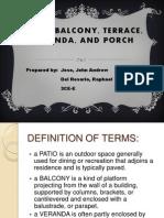 Balcony, Patio, Terrace, Veranda,.pptx